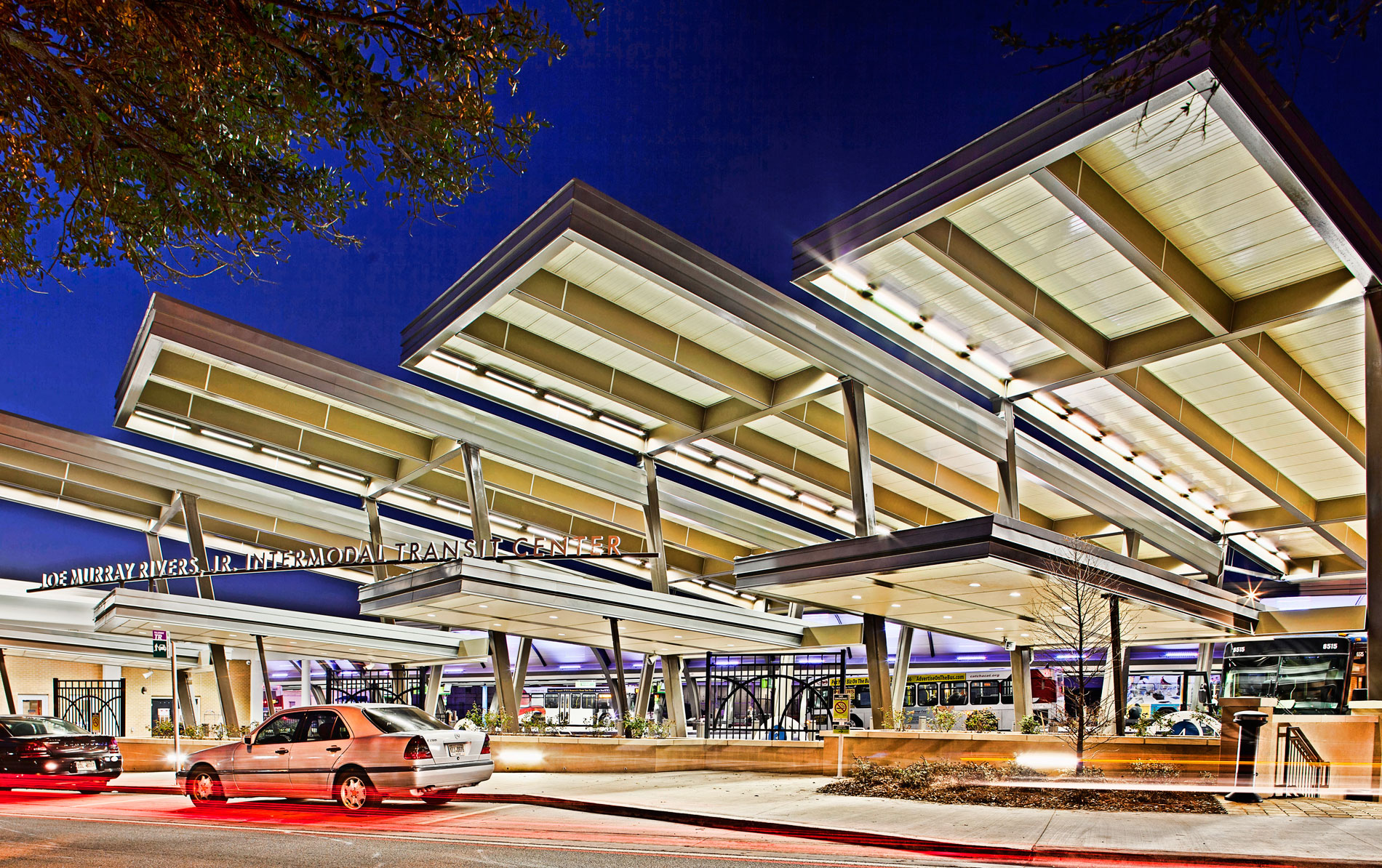 Joe Murray Rivers, Jr. Intermodal Transit Center - Greyhound Canopies